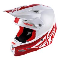 FLY 2019 F2 Carbon MIPS Shield Helmet (White/Red) - S