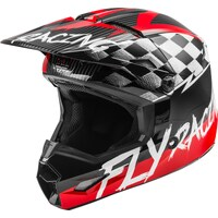 FLY 2020 Kinetic Helmet (Youth Sketch Red/Black/Grey) - YS