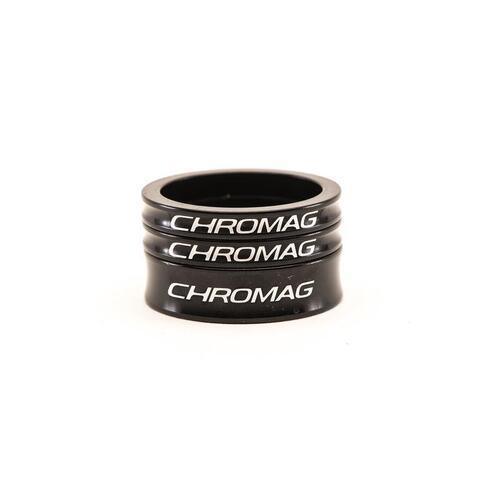 CHROMAG Headset 3-Piece Spacer Kit (2x5mm / 1x10mm) - Black