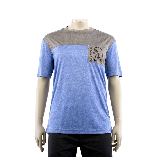 CHROMAG Rove Short Sleeve Jersey w/Pocket (Blue Heather/Charcoal Heather)
