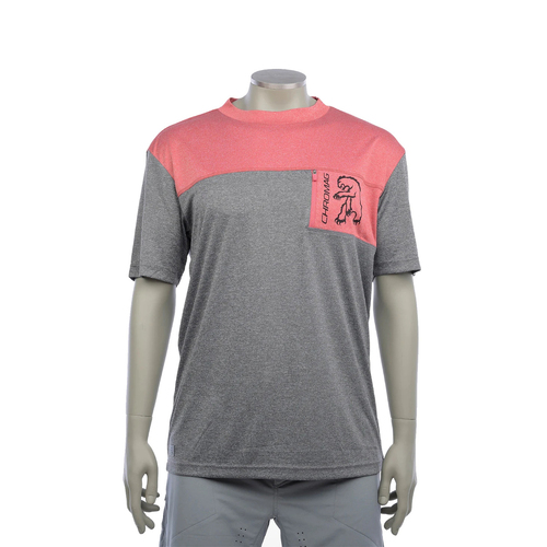 CHROMAG Rove Short Sleeve Jersey w/Pocket (Charcoal Heather/Red Heather)